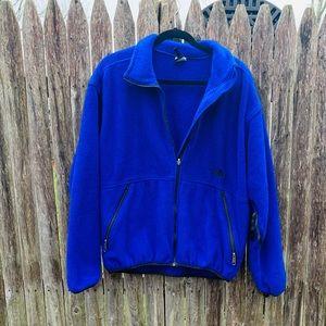 The North Face Blue Fleece Zip Up Jacket